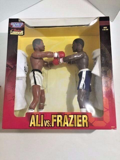 Stkonstjärna Linearup 1998 tidless Legends Ali mot Frazier Posable Figures NRFB