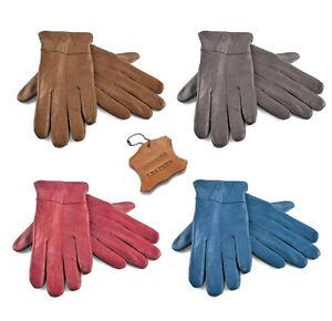 Winter Sheepskin Leather Gloves Driving Warm Lining