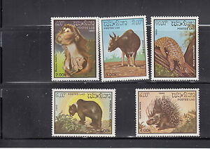 Laos-1985-Animals-Sc-647-649-complete-mint-never-hinged