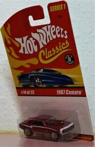 Hot-Wheels-Classics-Series-1-1967-Camaro-SS-Die-Cast-Bottom-Dated-1982-RED