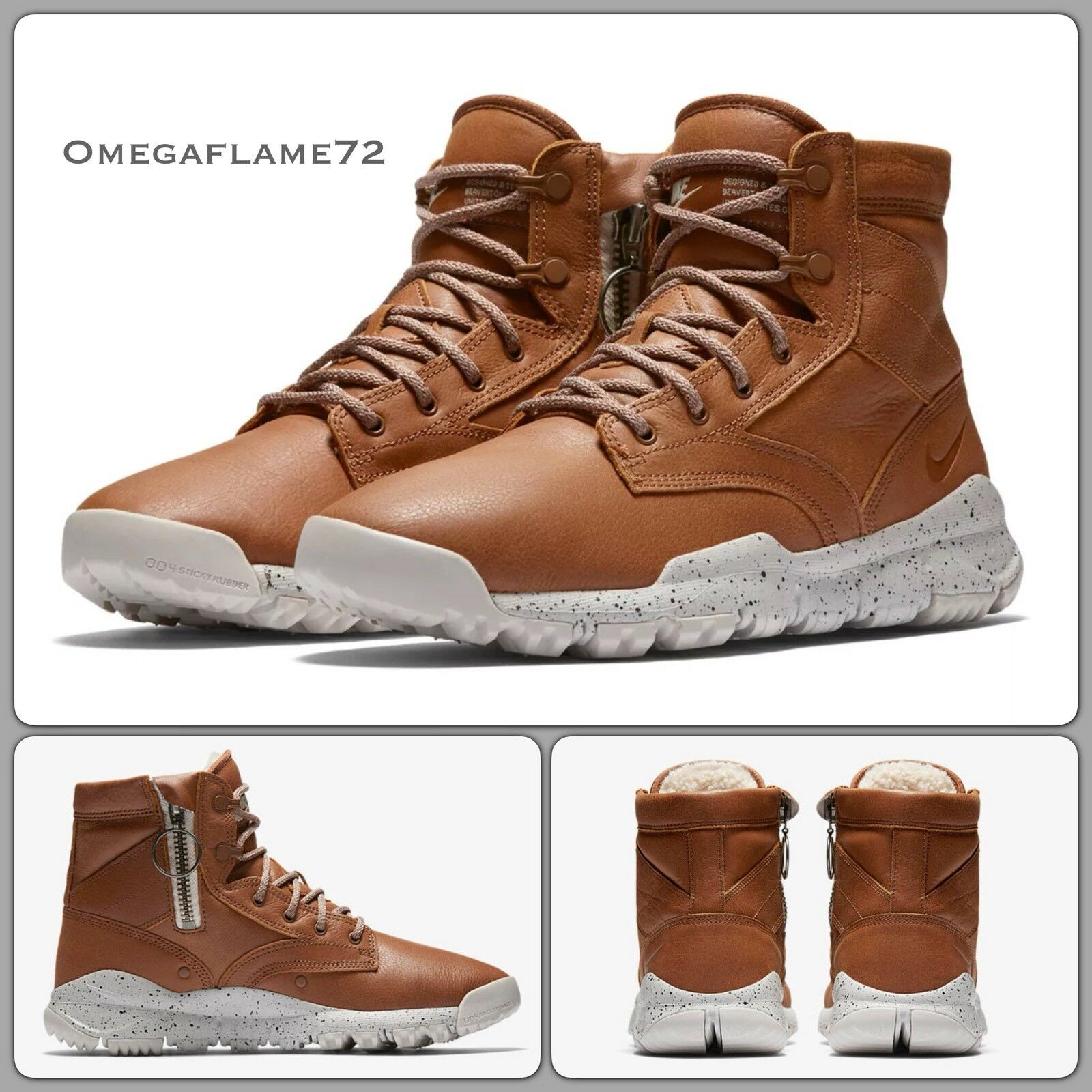 "Nike SFB 6"" NSW ""Bomber"" Cognac Leather 862506-2008 EU 42.5 US 9  ACG"