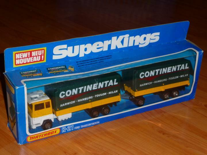 MATCHBOX SUPERKINGS K-21 FORD TRANSCONTINENTAL  CONTINENTAL  MIT OVP