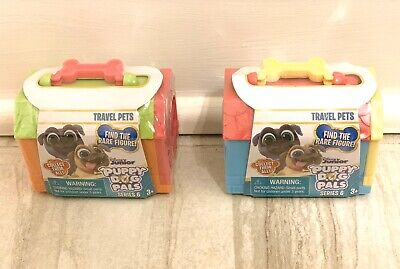 Disney Junior Puppy Dog Pals SERIES 2 Blind Box Set Of 2 Travel Pets Carriers