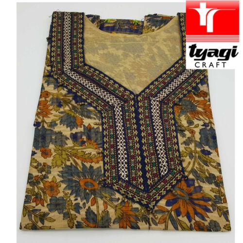 Kaftan Dress Top Summer Beach Embroidery Women Medium Jaipur Holiday Pool Light