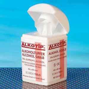 Honig Alkoholtupfer Alkotip 155 Stk In Dispenserdose Tupfer #1753 Hohe Belastbarkeit Medizin & Labor