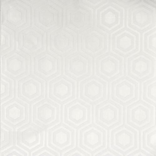 Blanc Recouvrable géométrique hexagonale Papier Peint Vinyle Coller MUR Gaufrée ANAGLYPTA