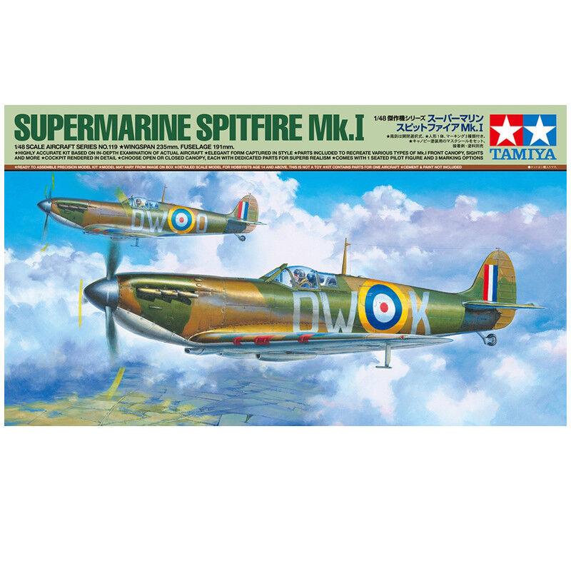 Tamiya Supermarine Spitfire Mk.I Model Kit (Scale 1 48) - 61119 - NEW