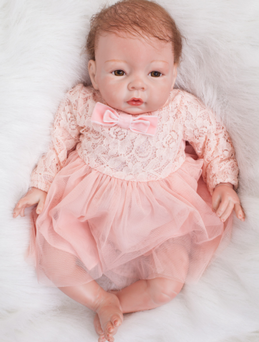 22  fatto a mano bambole reborn baby corpo di stoffa in vinile Neonato Giocattolo Compleanno Natale Regali