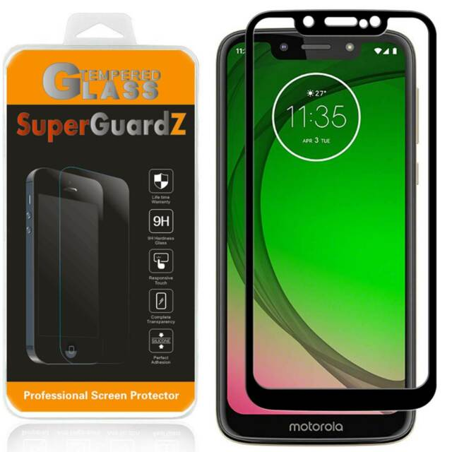 FULL COVER Tempered Glass Screen Protector Guard For Moto G7 Optimo (XT1952DL)