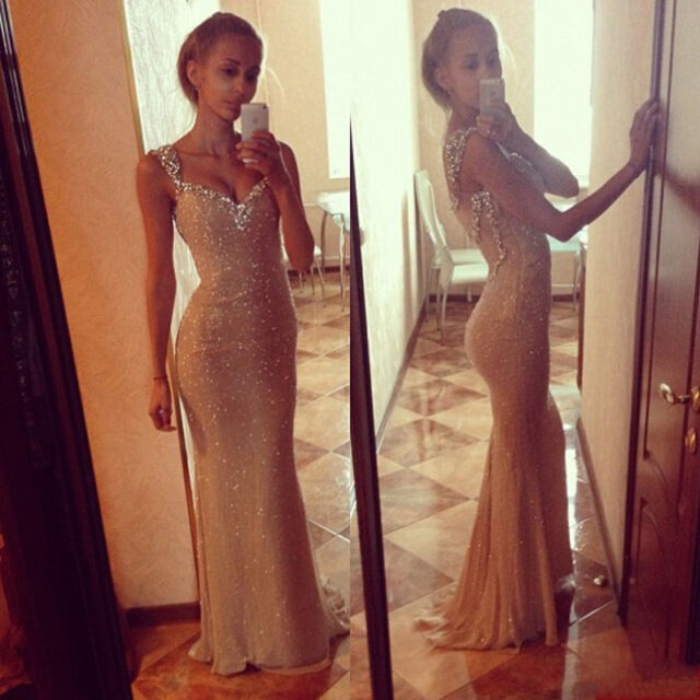 New Sexy Women Long Evening Party Ball Gown Bridesmaid Wedding Prom Maxi Dress 8