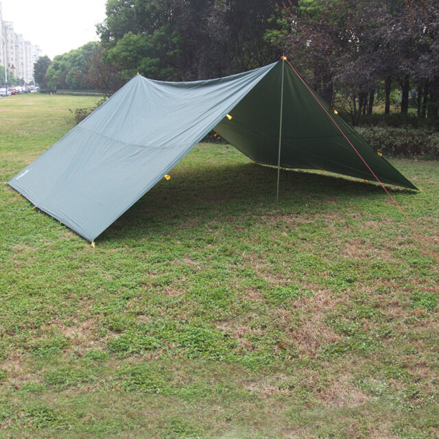 Portable 3-4 Person Lightweight Camping Tent Waterproof Tarp Rain Shelter Mat