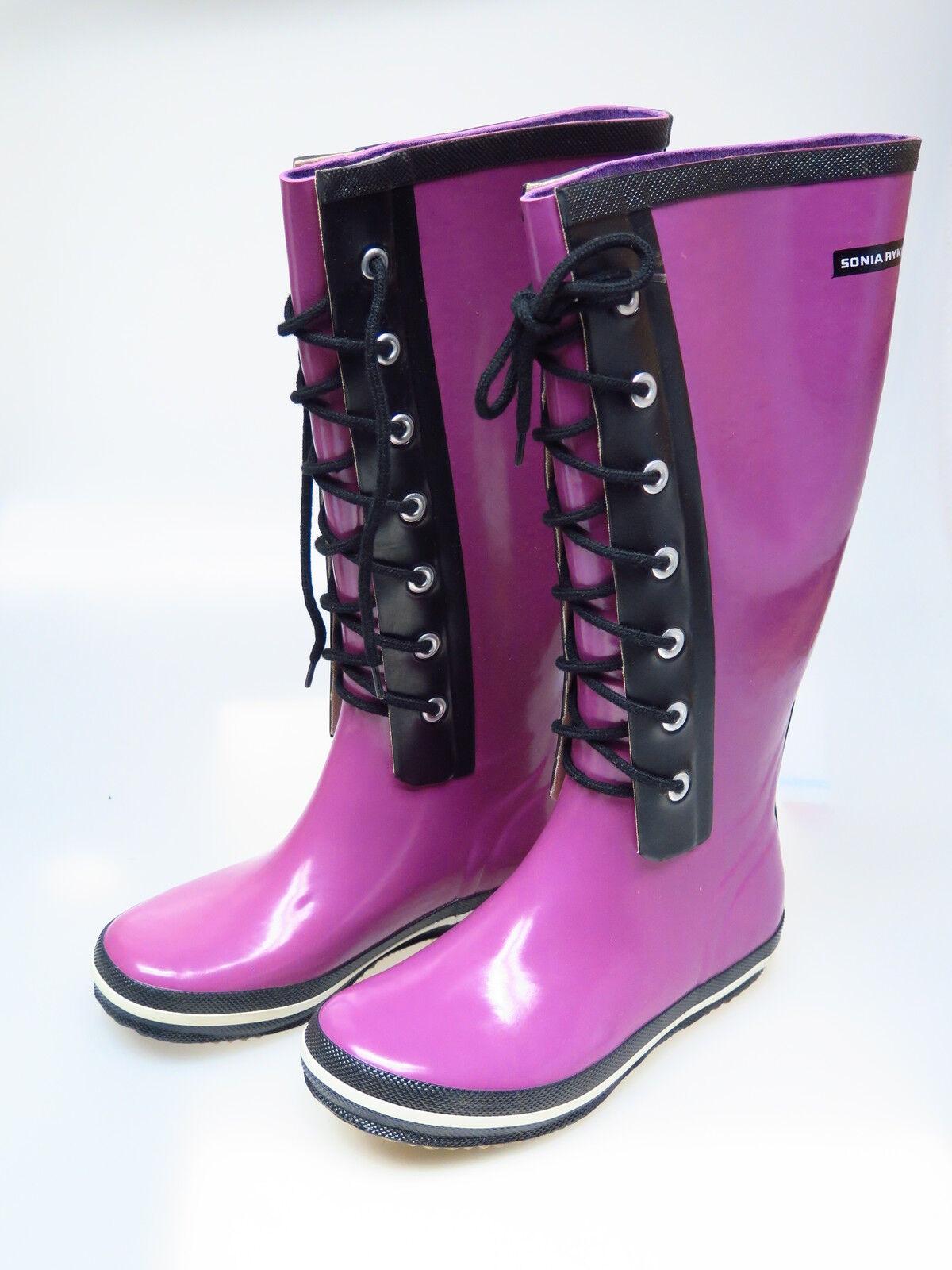 Sonia rykiel Chaussures Femmes Bottes Caoutchouc rose Myrtille taxi botte violet 37 NEUF