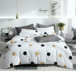 3D Black Gold Round Dots KEP3256 Bed Pillowcases Quilt Duvet Cover Kay