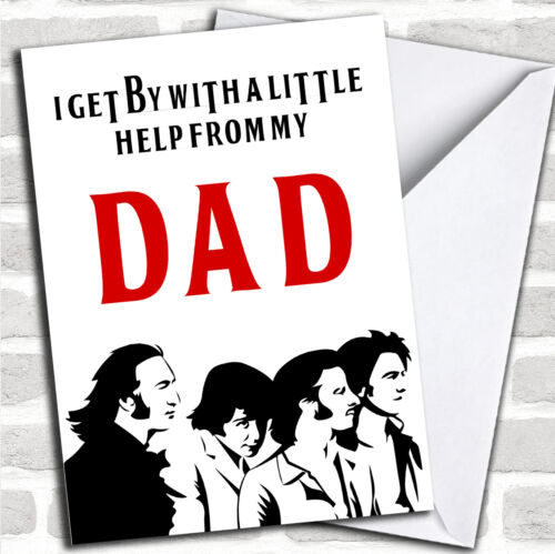 Funny Joke The Beatles Customised Father/'s Day Card