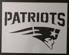 "Patriots New England 11"" x 8.5"" Custom Stencil FAST FREE SHIPPING"