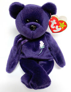 Ty Princess Beanie Baby 1st Edition Pristine Mint No Space Swing