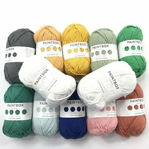 PaintBox-Yarns-100-Cotton-Bag-of-12-Mixed-Lot-NEW