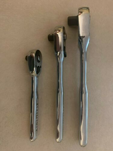 NEW Craftsman 3pc 72T Hand Ratchet Set 1//4 3//8 1//2 Drive 72 tooth Quick Release