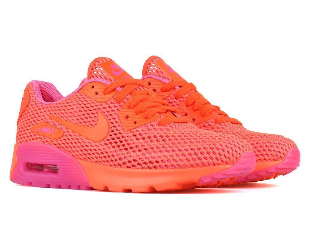 Nike Wouomo Air Max 90 Ultra BR Crimson rosa Blast 725061-800 Sz 5 - 8.5