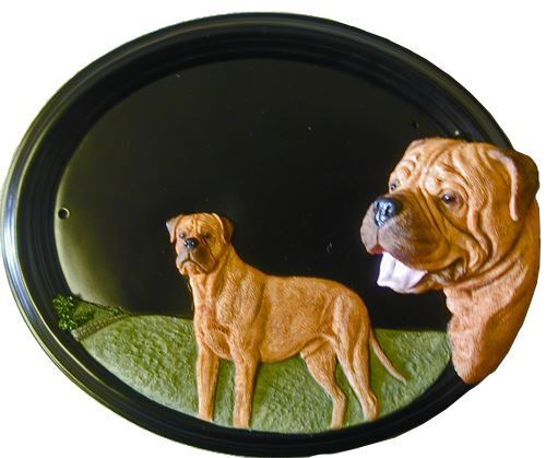 Bull Mastiff - Hand Painted House Sign   Plaque with Number