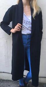 Designer New w//tags U.K.6-10 Small Goldie London Long Black Cardi//Coat