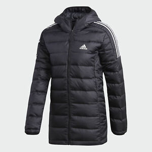 adidas AU Women Black Essentials Light Down Hooded Parka