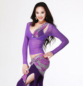 312a75c93 Image is loading Sexy-Transparent-Style-Belly-Dance-costume-Yoga-Long-