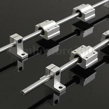 2Pcs 8mm 400mm Linear Shaft Rod Rail Kit W/ Bearing Block For 3D Printer CNC