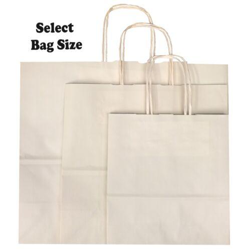 Papel de Marfil bolsas de regalo ~ ~ Bolsa De Fiesta Tienda Boutique Elige Tamaño Pequeño Mediano Grande
