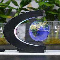 Senders Floating Globe With Led Lights C Shape Magnetic Levitation Floating