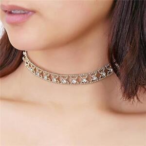 Charm Fashion Jewelry Pendant Chain Crystal Beads Choker Statement Bib Necklace