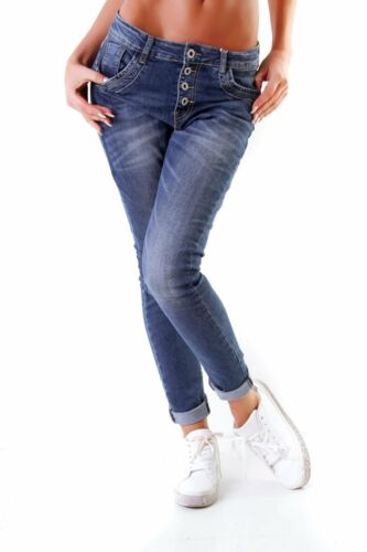 Women's Front 10847 Pants Boyfriend Stretch Slimfit Lexxury Button Tube Jeans UBwf5q
