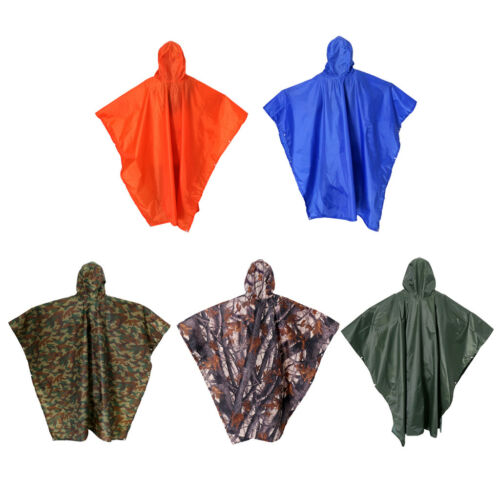 Outdoor Rain Poncho Waterproof 3 in 1 Poncho Camping Tent Raincoat with Hood