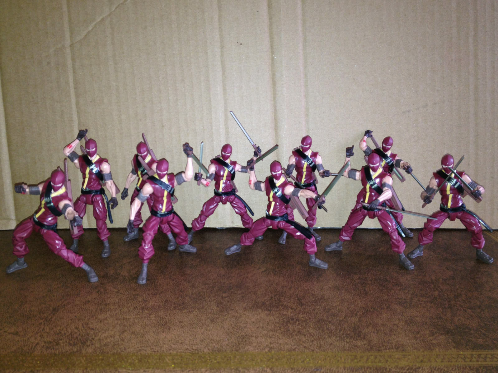 10x Gi-joe 30th aniversario Renegades Cobra Ninja Viper Figuras De Acción Hasbro