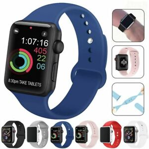 Strap-For-Apple-Watch-Silicone-Comfortable-Durable-Waterproof-Band