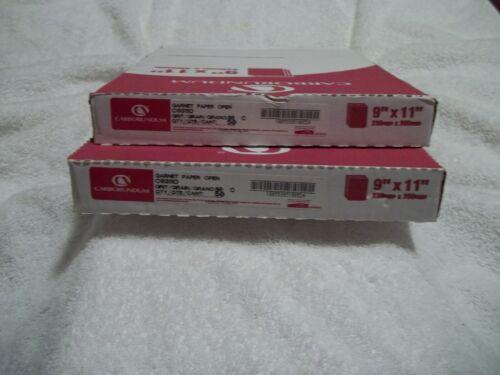 """100 Sheets in 2 Unopened Packages 80 Grit Garnet Sandpaper 9/"""" X 11/"""""""