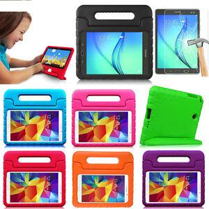 Kids-Safe-Shockproof-Stand-Case-Cover-Tempered-Glass-Film-For-Samsung-Tablet