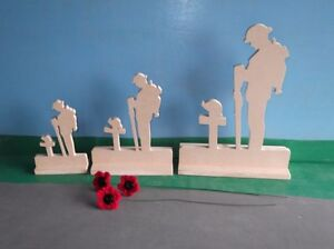 Set-of-3-Standing-Figure-Fallen-Soldier-And-3-Poppies