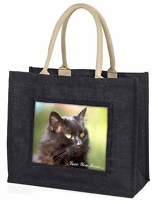 schön schwarze Katze' Liebe, die sie Mama' große Einkaufstasche Weihnachten,