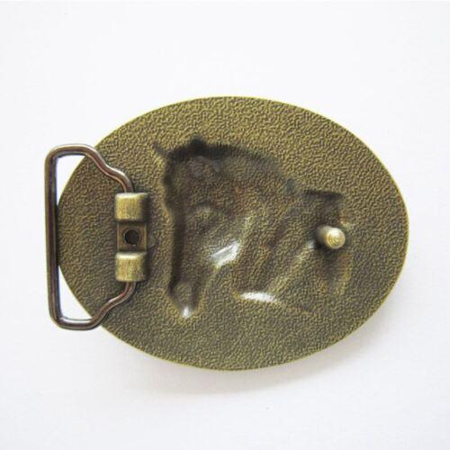 Rodeo Horse Head Antique Bronze Plated Cowboy Western Metal Belt Buckle