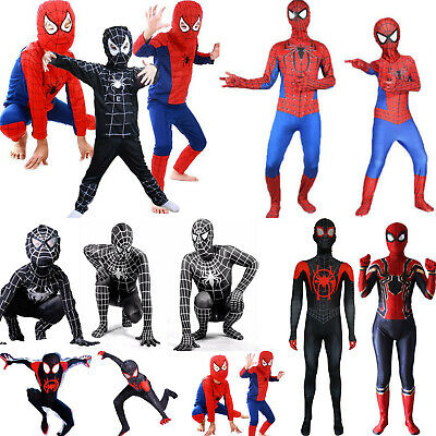 Fasching Herren Jungen Cosplay Venom Superheld Overalls Karneval Kostüm Jumpsuit