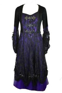 53a85f7ab21 Dark Star Dress Purple And Black Long. Lace And Net Material. Size ...
