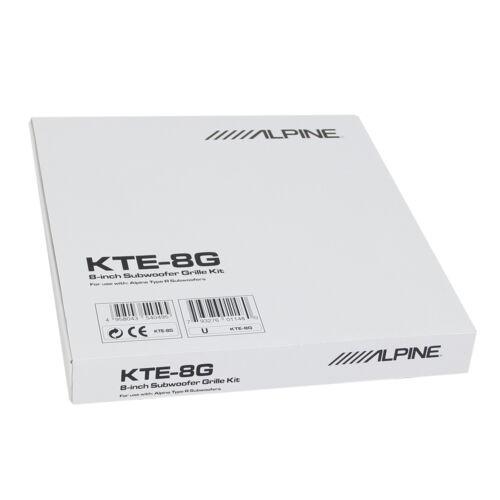 "Alpine KTE8G 8/"" Grille Kit for Type-R Subwoofers SWR-8D2 SWR-D84 Single NEW"