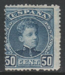 Espana-1901-5-50c-Slate-Blue-Sello-LARGO-M-Sg-303
