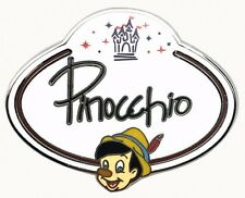 2010 Disney HKDL Name Tag Mystery Pinocchio Pin N3