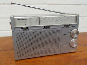 Vintage Retro Benkson TR38 Portable Transistor Radio VHF MW LW Clean and Working