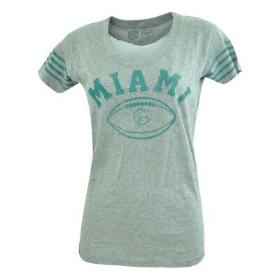 Sport Baseball & Softball Nfl '47 Marke Miami Dolphins Damen Hot Shot Rundhals T-shirt