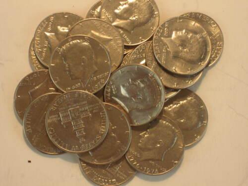 1776-1976 Kennedy Bicentennial Nickel Copper Clad Halves Choose How Many