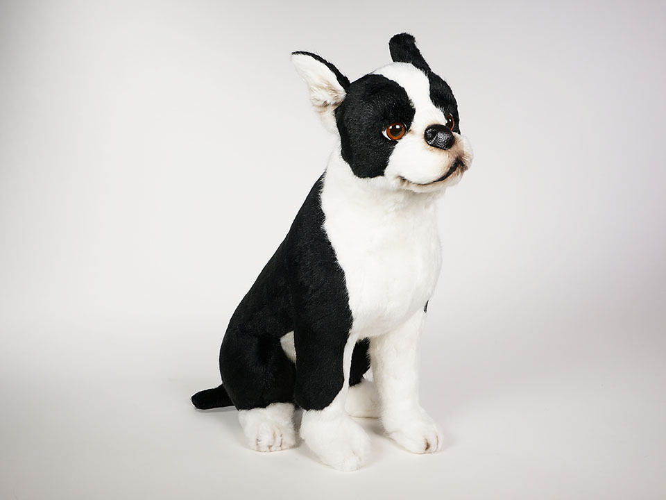 Boston Terrier by Piutre, Hand Made in , Plush Stuffed Animal NWT