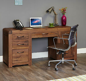 Terrific Details About Shiro Walnut Dark Wood Home Modern Furniture Large Computer Office Pc Desk Beutiful Home Inspiration Truamahrainfo